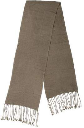 Denis Colomb Cashmere Fringe-Trimmed Scarf w/ Tags