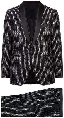 Philipp Plein three-piece pinstriped suit