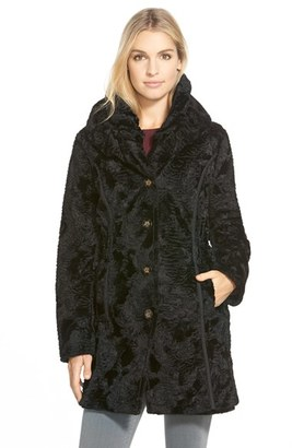 Women's Laundry By Shelli Segal Reversible Faux Persian Lamb Fur Coat $348 thestylecure.com