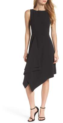 Vince Camuto Laguna Crepe Asymmetric Hem Dress