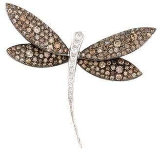 18K Diamond Dragonfly Brooch