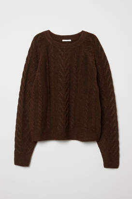 H&M Cable-knit Sweater - Brown