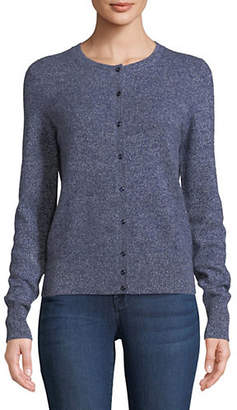 Lord & Taylor Basic Crewneck Cardigan