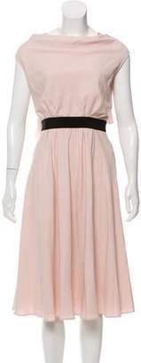 Paule Ka Drape Back Midi Dress w/ Tags