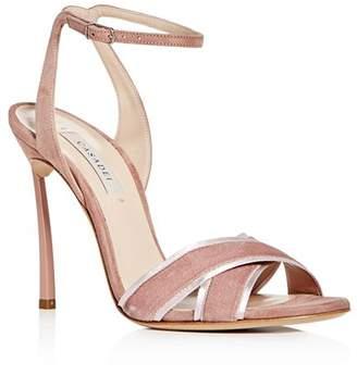 Casadei Women's Yoko Velvet & Suede High-Heel Sandals