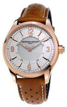 Frederique Constant Smart Stainless Steel and Leather Strap Watch