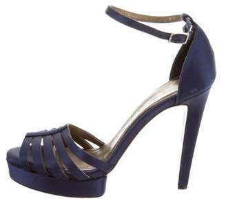 Lanvin Satin Platform Pumps