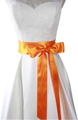 "Lemandy 2"" Wide Simple Classic Colorful Ribbon Sash for Dress Formal Wedding Dress"