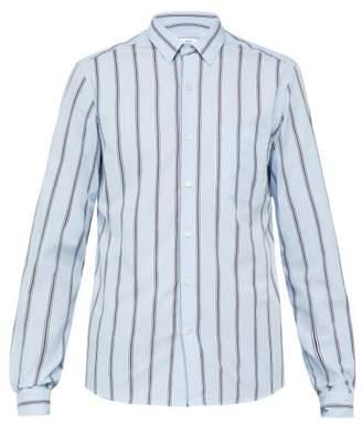 Ami Striped Cotton Shirt - Mens - Blue Multi