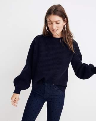 Madewell Boatneck Button-Shoulder Sweater