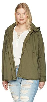 Lucky Brand Women's Raw Edge Military Plus-Size Jacket