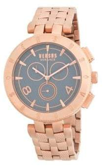 Versace Rose Goldtone Stainless Steel Bracelet Watch
