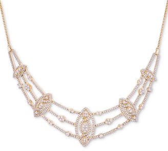 """Wrapped in Love Diamond Pave Marquise Cluster 17"""" Statement Necklace (2 ct. t.w.)"""