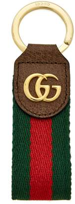 Gucci Ophidia tricolour leather keyring