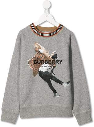Burberry knitted collar sweatshirt