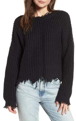 Wildfox Couture Palmetto Frayed Sweater
