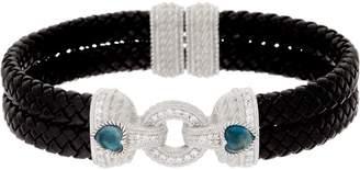 Judith Ripka Sterling Gemstone Heart Bracelet