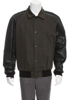 Marc Jacobs Leather-Accented Bomber Jacket