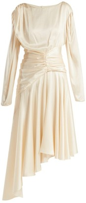 Preen by Thornton Bregazzi Amber Silk Satin Midi Dress - Womens - Ivory