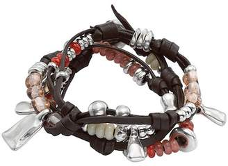 Uno de 50 Summer Vibes Beaded Festival Leather Bracelet