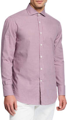 Brunello Cucinelli Men's Check Woven Sport Shirt