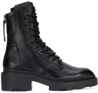 Ash lace-up combat boots