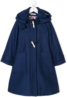 Marni A-line hooded coat