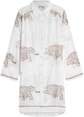 Juliet Dunn Embellished Cotton Shirt