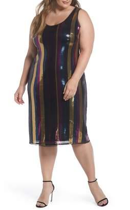 Rachel Roy Veda Sequin Stripe Dress