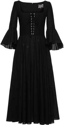Lena Hoschek Gwendolyn Cotton Flare Sleeve Dress