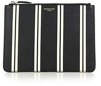 Givenchy Striped Leather Pouch