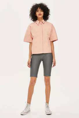 Topshop Leather Cycling Shorts by Boutique