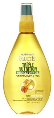 Garnier Fructis Haircare Triple Nutrition Miracle Dry Oil for Hair, Body, & Face 5 oz (Pack of 2) $8.88 thestylecure.com