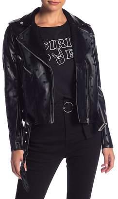 EMORY PARK Faux Leather Vegan Jacket
