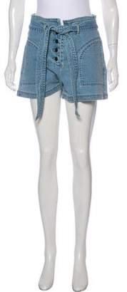 Tanya Taylor Denim Mini Shorts w/ Tags