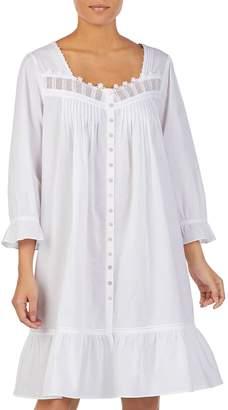 Eileen West Button-Front Cotton Nightgown