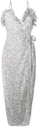ATTICO glitter effect dress