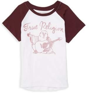 True Religion Little Girl's Raglan-Sleeve Cotton Tee