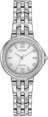 Citizen Women's Eco-Drive Diamond Accent Stainless Steel Bracelet Watch 28mm EM0440-57A