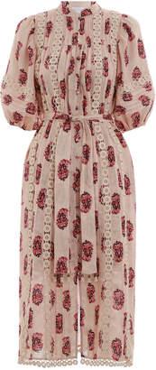 Zimmermann Jaya Flower Cutout Long Dress
