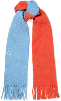 Acne Studios Kelowna Two-tone Embroidered Felt Scarf