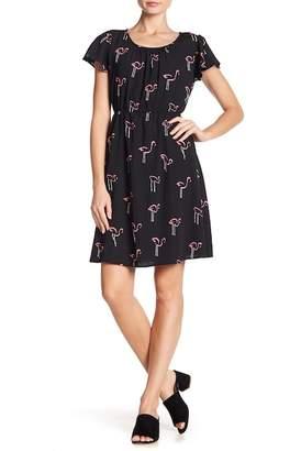 WEST KEI Woven Short Flirty Dress