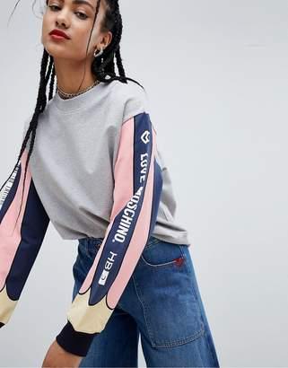 Love Moschino Crayon Sleeve Sweatshirt