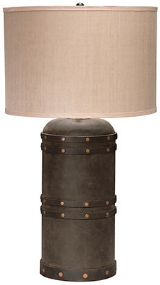Jamie Young Barrel Table Lamp - Vintaged Brown