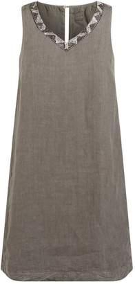 120% Lino 120 Lino Embellished Linen Dress