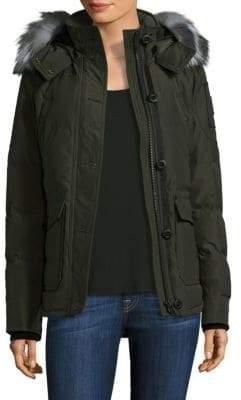 Moose Knuckles Fox Fur-Trimmed Jacket