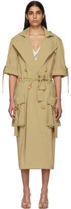 Balmain Beige Double-Breasted Trench Coat