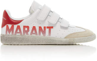 Isabel Marant Beth Logo-Printed Leather Sneakers