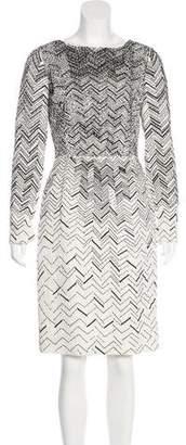 Oscar de la Renta Embellished Sheath Dress