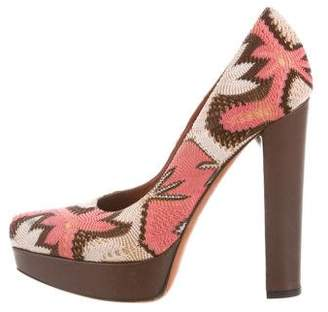 Missoni Platform Pointed-Toe Pumps